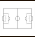 soccer field icon sketch of europe football field vector image vector image