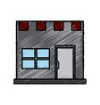 storefront building shop facade front view vector image vector image