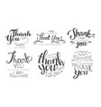 thank you for your support retro monochrome labels vector image vector image