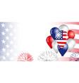 usa balloons flag banner vector image vector image