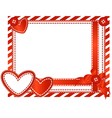 valentine horizontal card vector image vector image