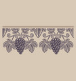 vintage seamless branch grape pattern on the vector image vector image