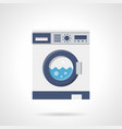 washing machine flat color icon vector image vector image