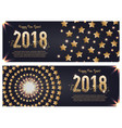 web banner template for happy new year 2018 vector image vector image