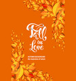 yellow fall card vector image