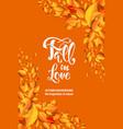 yellow fall card vector image vector image