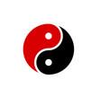 yin yang icon harmony symbol red and black vector image