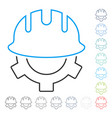 development helmet line icon vector image