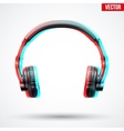 Headphones with visual stereo effect vector image
