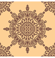 Seamless ethnic pattern of circular vector image