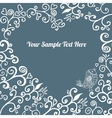 Romantic hand drawn floral card vector image