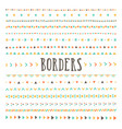 set of hand drawn borders and dividers vector image
