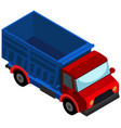 3d design for red truck vector image