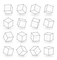 3d modeling square line isolated blocks isometric vector image vector image
