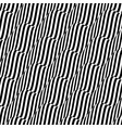 3d wavy background black and white design vector image