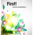 Abstract Fluorescent Floral Background vector image vector image