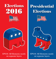 American Presidential Election Party Banners vector image