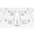 assembly motor vehicle vector image vector image