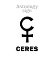 astrology little planet ceres vector image vector image