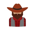 bearded dangerous criminal man cartoon character vector image