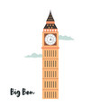 big ben london famous landmark attraction vector image vector image