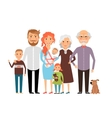 Big happy family vector image vector image