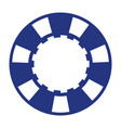 blue casino poker chip vector image vector image