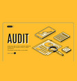 business audit company isometric website vector image vector image