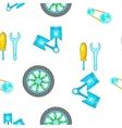 Car repairs pattern cartoon style vector image vector image
