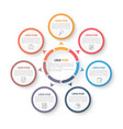 circle infographic template with three elements vector image vector image