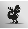 Cock icon sign Rooster Flat cock icon design vector image