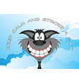 comical stroke a cat message vector image vector image