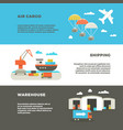 delivery cargo transportation and logistics vector image