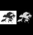 dot halftone hong kong map vector image vector image