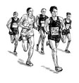 drawing running competition vector image vector image