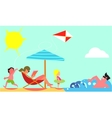 Family Summer Vacation Flat Design Concept vector image vector image