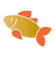 fish flat icon food color icons in trendy flat vector image