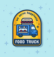 food truck service badge banner vector image