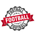 football stamp sign seal vector image vector image