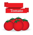 fresh tomato on white background vector image vector image