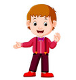 friendly young man in casual clothes vector image vector image
