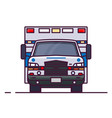 front view of ambulance car vector image vector image