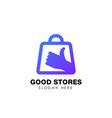 good stores logo design best shop logo icon design vector image vector image