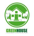 Green city design vector image
