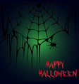 halloween party a spider on a web halloween vector image vector image