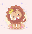 hand drawn cute lion for kids vector image vector image