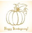 Happy Thanksgiving Day greeting card with pumpkin vector image vector image