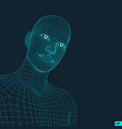 head person from a 3d grid vector image vector image
