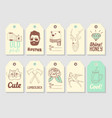 hipster fashion hand drawn tags collection vector image vector image