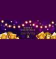 horizontal christmas xmas gold vector image